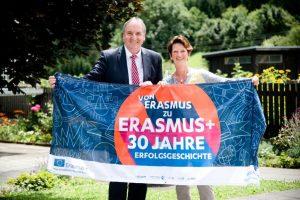 Dir. Stefan Schellander und FV Natascha Partl sind begeisterte Erasmus+ Multiplikatoren